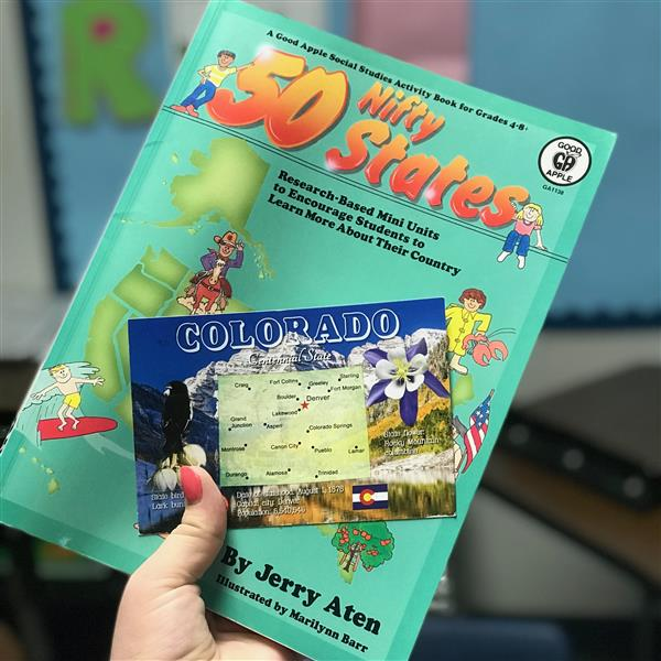 50 Nifty States Book and Post Card