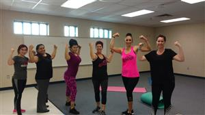 Tabata participants celebrate the fun class