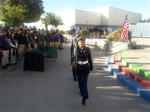 Alhambra high School ROTC Colore Guard