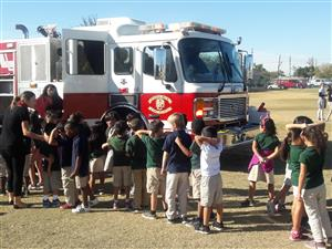 These second graders loved the Fire truck
