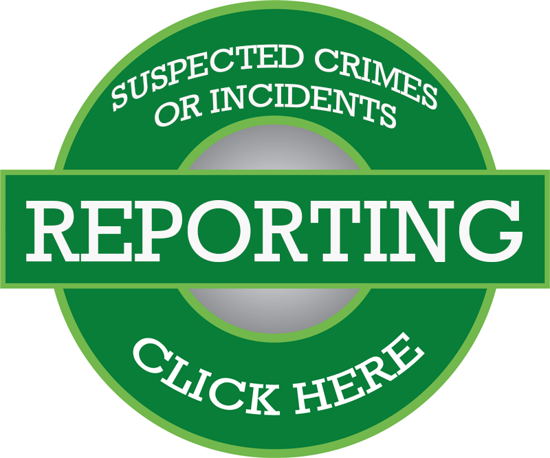 Reporting suspected crimes button