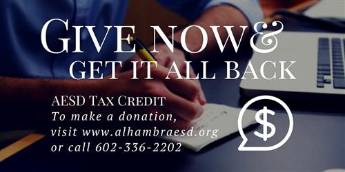 Give Now, Tax Credit Pic