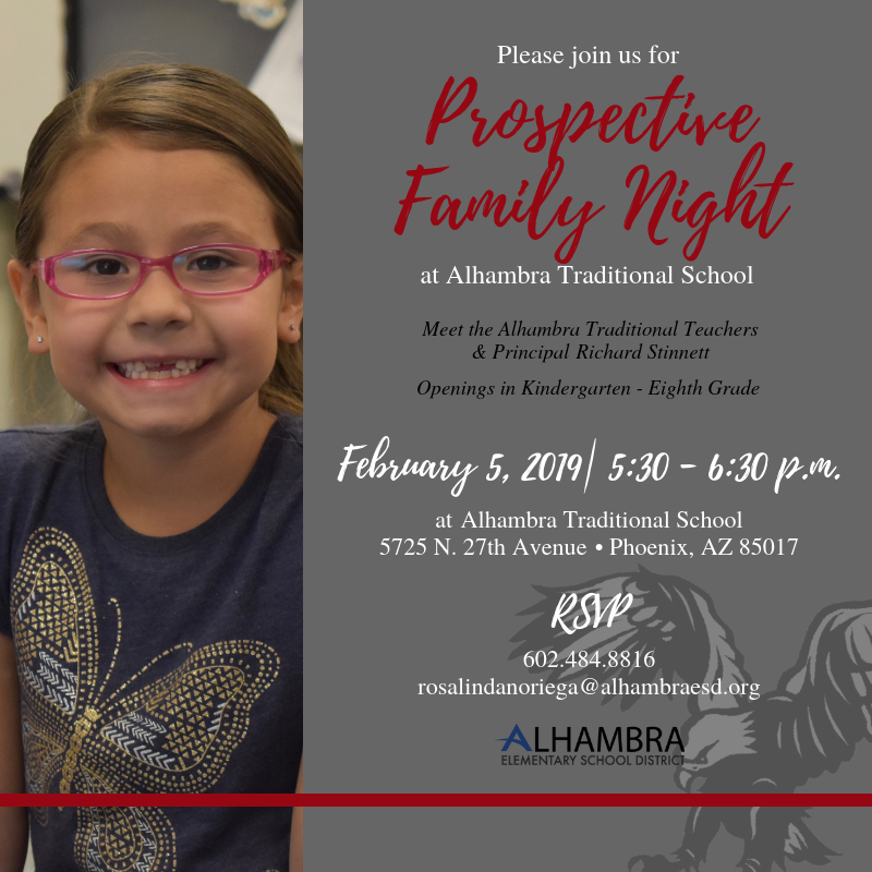Prospective Family Night at Alhambra Traditional School