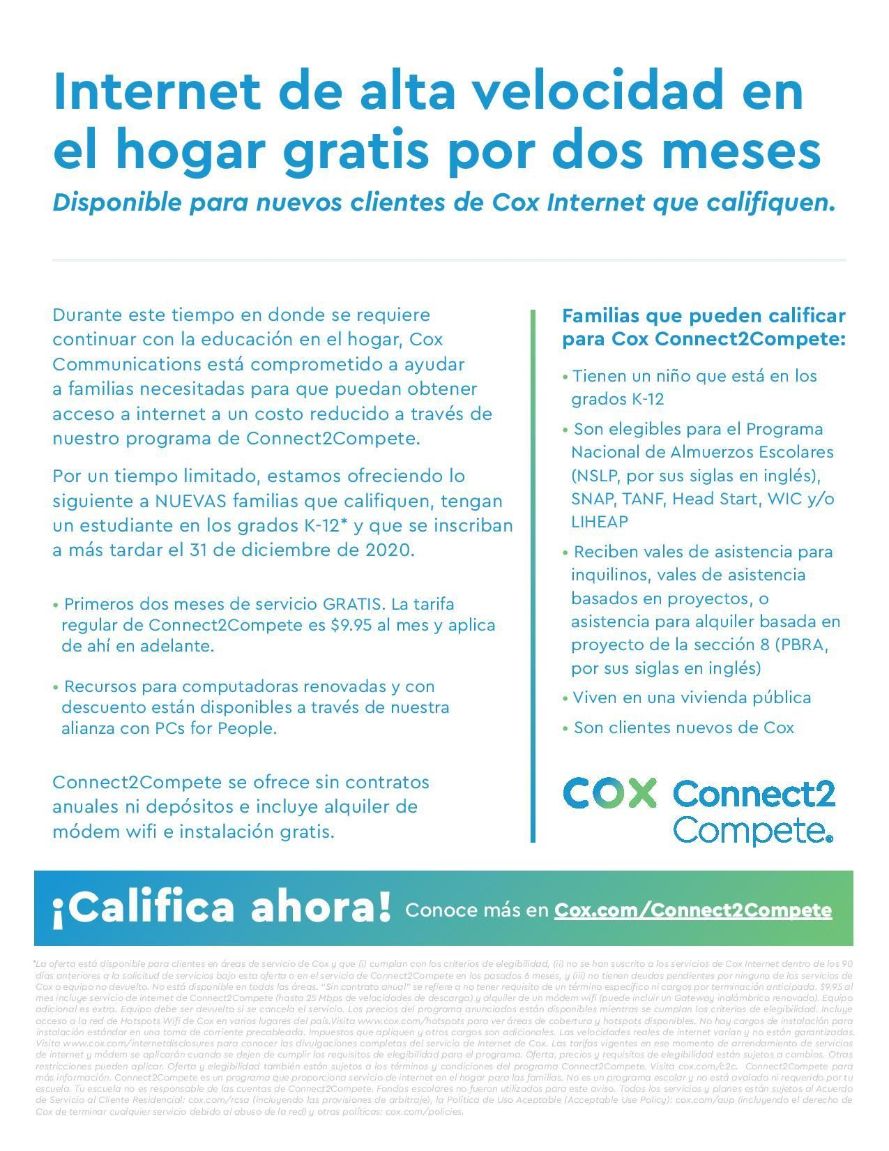 Cox Connect2Compete Spanish