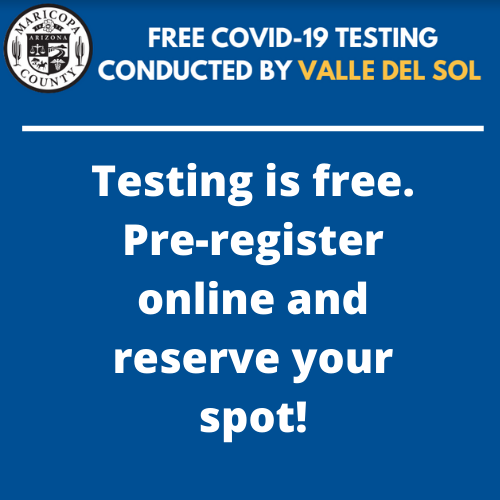 FREE COVID-19 TESTING Conducted By Valle Del Sol